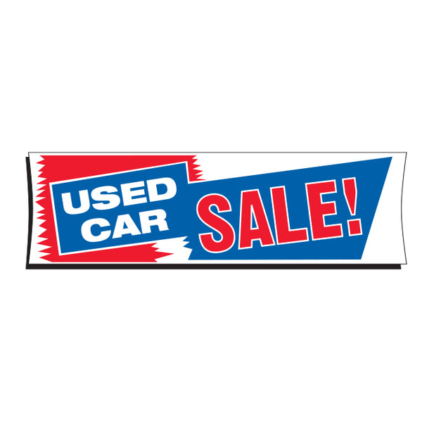 Vinyl Banner 3' x 10' - Used Car Sale!