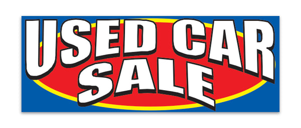 Giant Fabric Banner - Used Car Sale