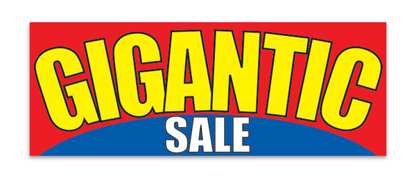 Giant Fabric Banner - Gigantic Sale