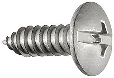 License Plate Screws - Duo Drive Truss Head