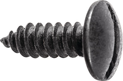 License Plate Screws - Slotted Truss Head (Black E-Coat)