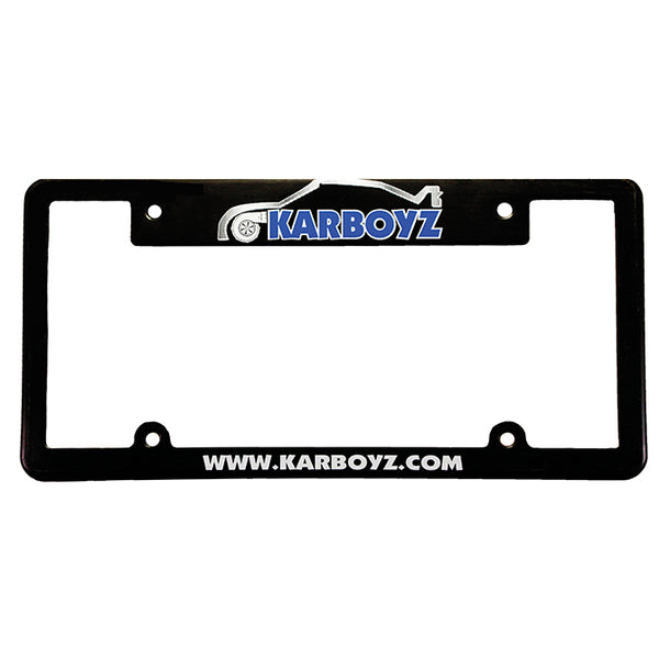 Screen Printed License Plate Frames