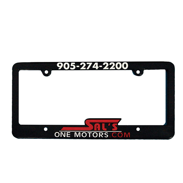 Raised Letter License Plate Frames