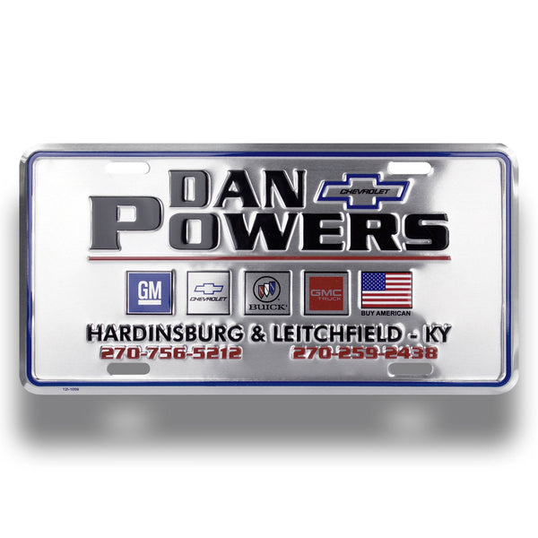 License Plates - Embossed Aluminum