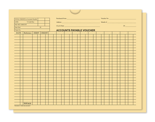 Accounts Payable Voucher Env - General Acct Style