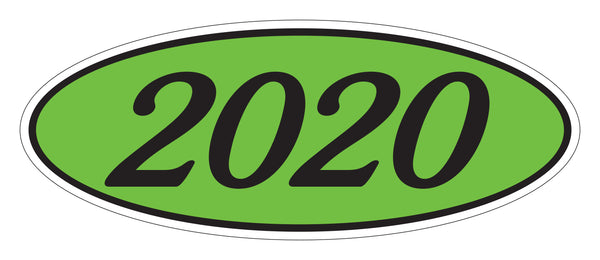 Oval Year Model Stickers - Green/Black