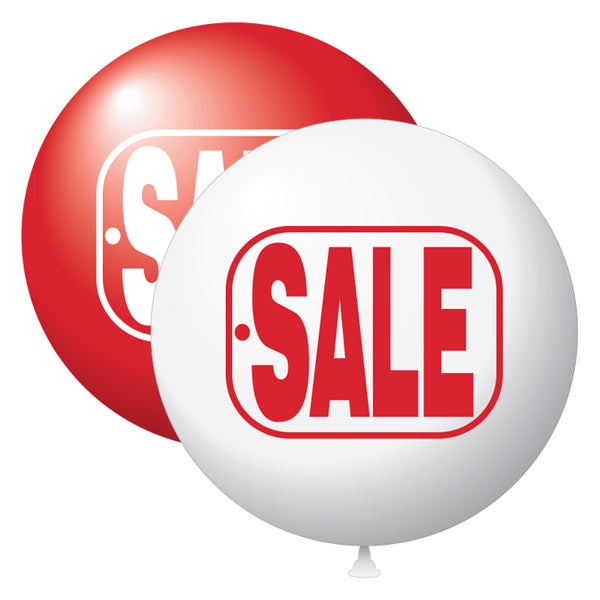 "17"" Latex Balloons Tuf-Tex - ""Sale"" Red/White"
