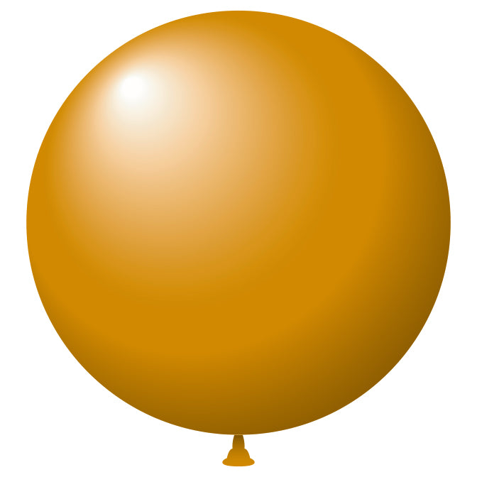 "17"" Metaltone Latex Balloons - Gold"