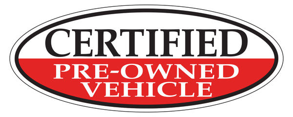 Window Sticker - Certified Pre-Owned (Red)