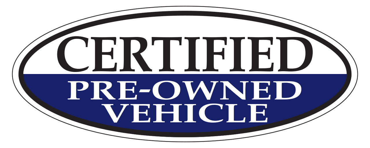 Window Sticker - Certified Pre-Owned (Blue)