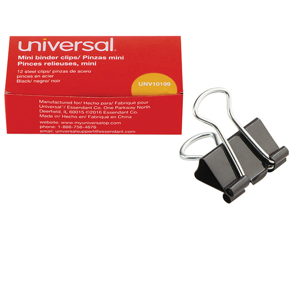 Binder Clips - Mini - Qty. 12 Per Box, 12 Boxes per Pack