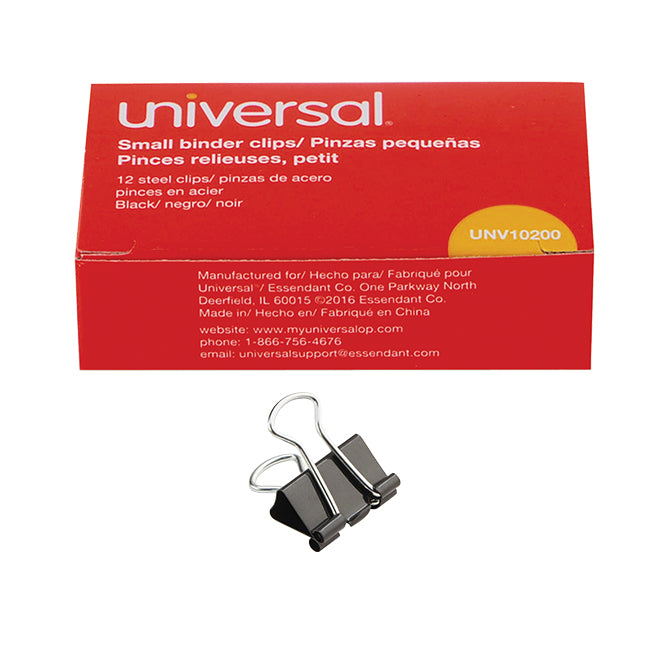 Binder Clips - Small - Qty. 12 Per Box, 12 Boxes per Pack
