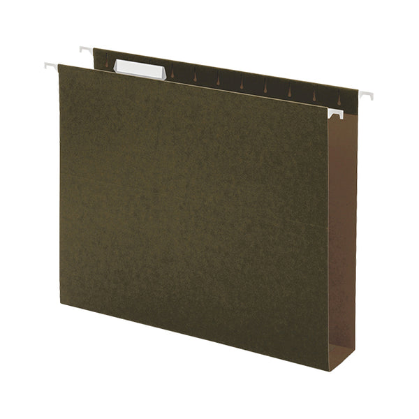 Hanging File Folder - Reinforced Box Bottom - Green - Qty. 25