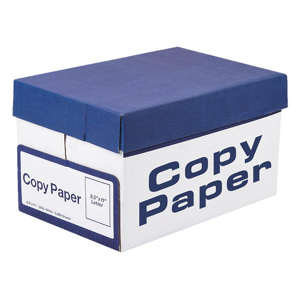 20/50# White Copy Paper - QTY. 5,000