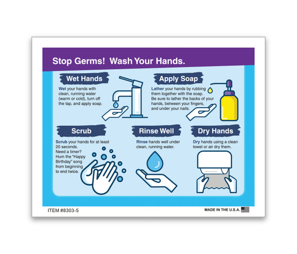 Hand Washing Sticker