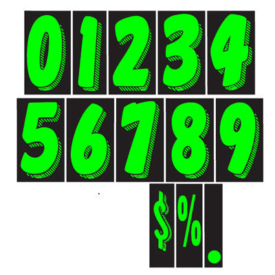 adhesive windshield numbers