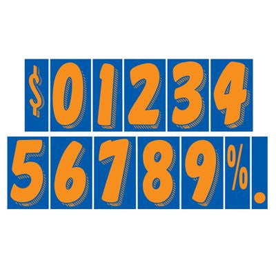 "7.5"" Blue/Orange Adhesive Number"