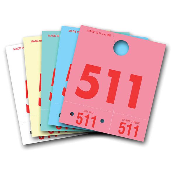 Colored Dispatch Numbers and Key Tags