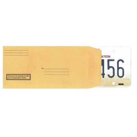 License Plate Envelope - Preprinted