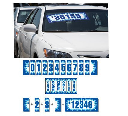 Blue Explosion Adhesive Number