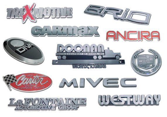Name Plate - Chrome Plated Plastic