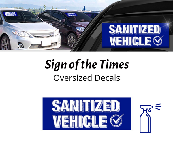 """Sanitized Vehicle"" Oversized Slogans"