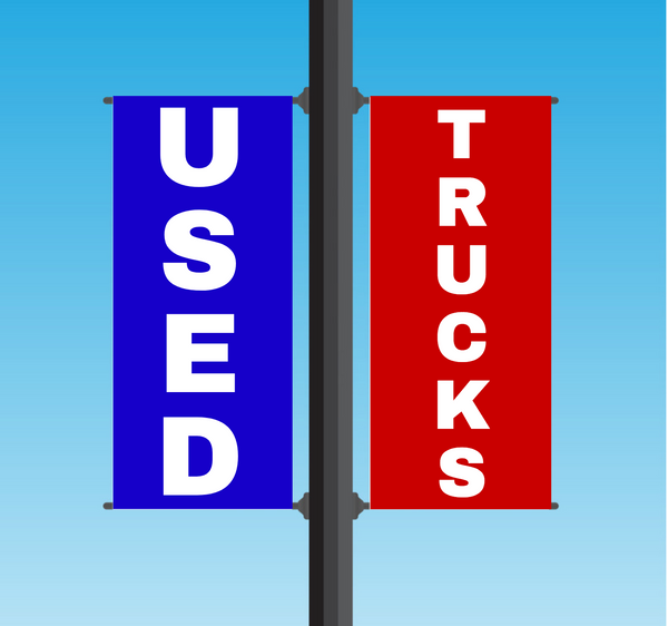 "Vinyl Light Pole Banner Sets - ""USED TRUCKS"""