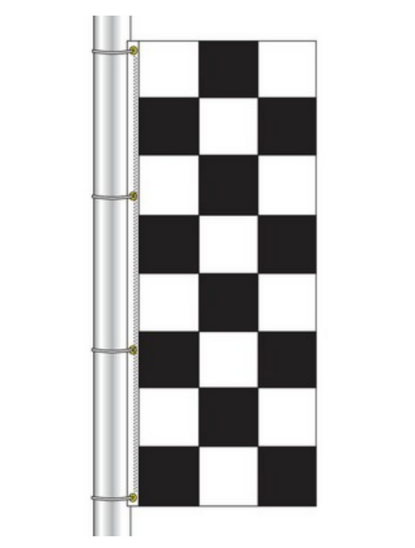 Drape Flag - Checkered / Black and White
