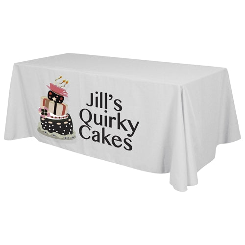 4 Sided Standard Table Throw (Front Print Only) Dye Sublimation