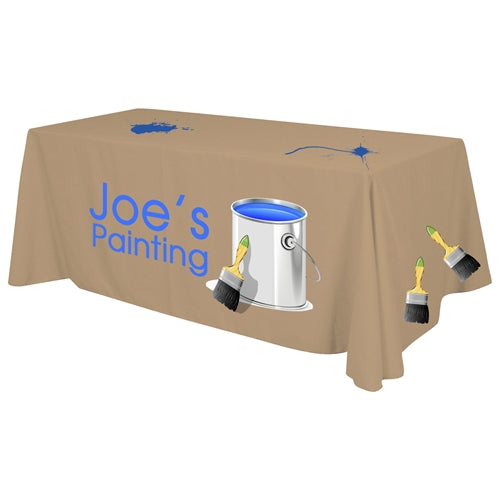 "4 Sided Standard Table Throw (Full Color Print) Dye Sublimation - 6 ft. x 30""Top x 29""H -"