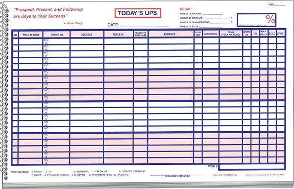 UPS Log Book / Customer Contact Log