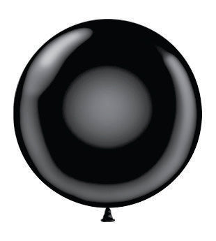 "17"" Latex Balloons Tuf-Tex - Black"