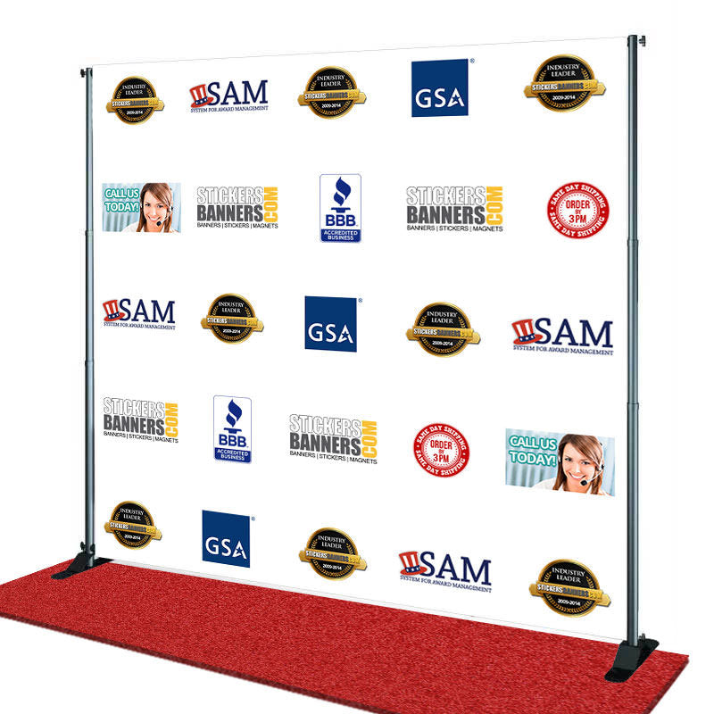 step and repeat on red carpet