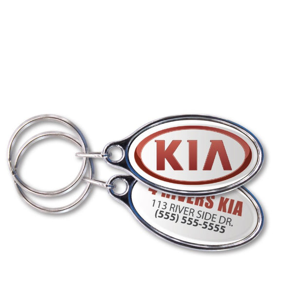 Domed Chrome Plated Key Tags