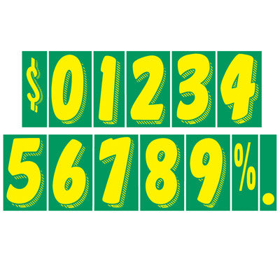 "7.5"" Green/Yellow Adhesive Number"