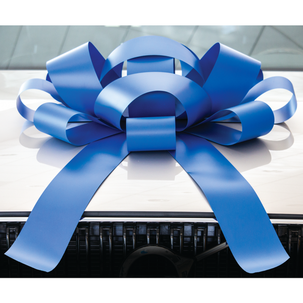 JUM-BOW Magnetic Car Bow - Blue