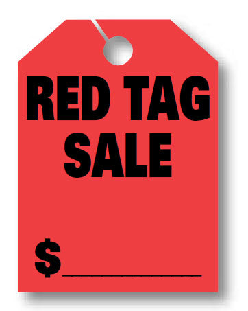 "Mirror Hang Tags (Jumbo) - ""Red Tag Sale"""