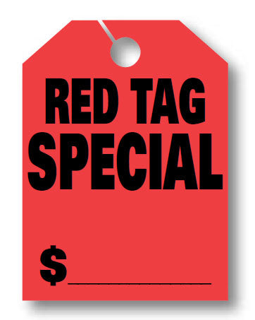 "Mirror Hang Tags (Jumbo) - ""Red Tag Special"""