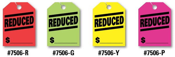 "Mirror Hang Tags (Jumbo) - ""Reduced"""