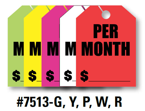 "Mirror Hang Tags (Jumbo) - ""Per Month"""