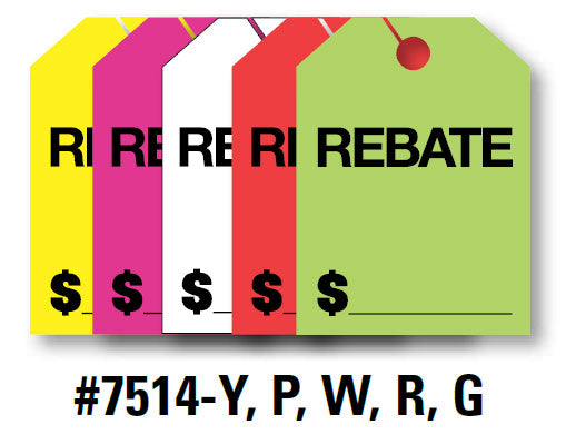 "Mirror Hang Tags (Jumbo) - ""Rebate"""