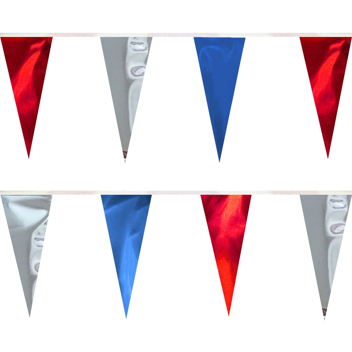 Metallic Triangle Pennants