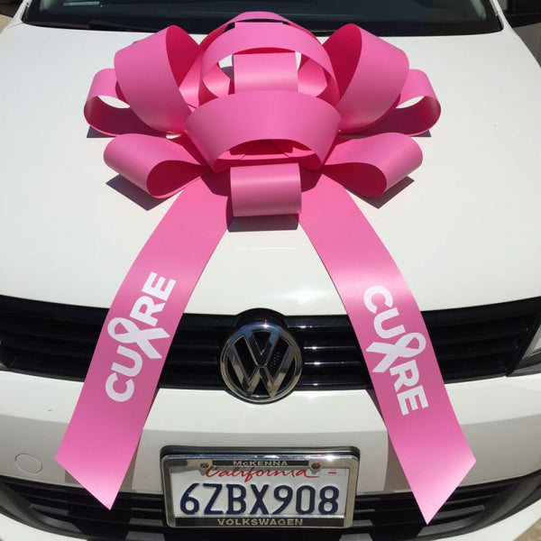"JUM-BOW Magnetic Car Bow - ""Cure"" Imprint"