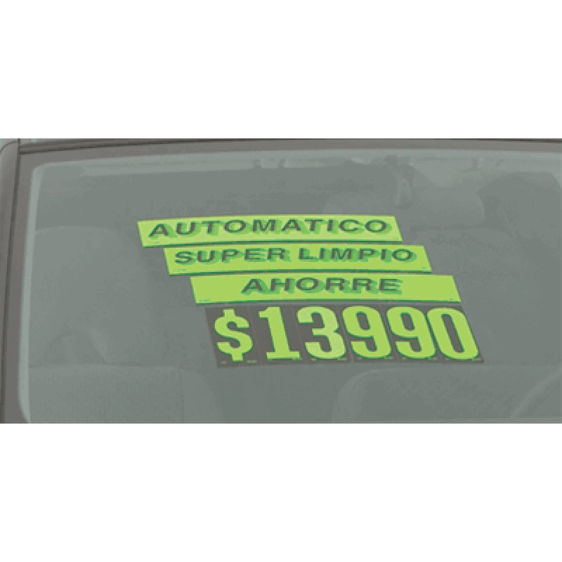 Spanish Adhesive Windshield Slogans