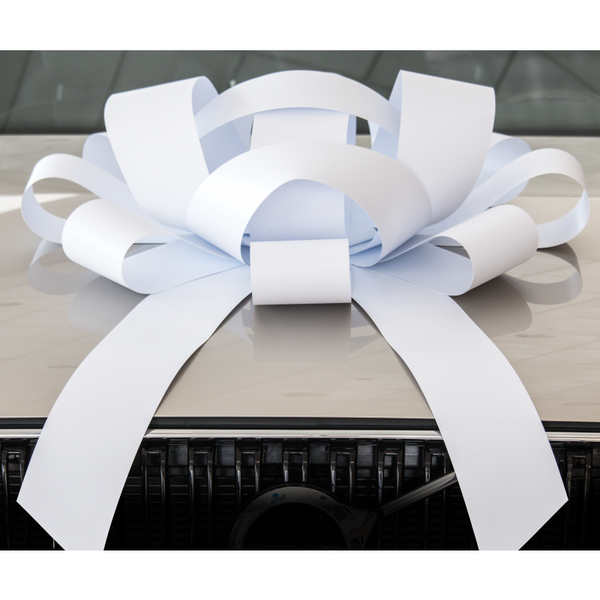 JUM-BOW Magnetic Car Bow - White