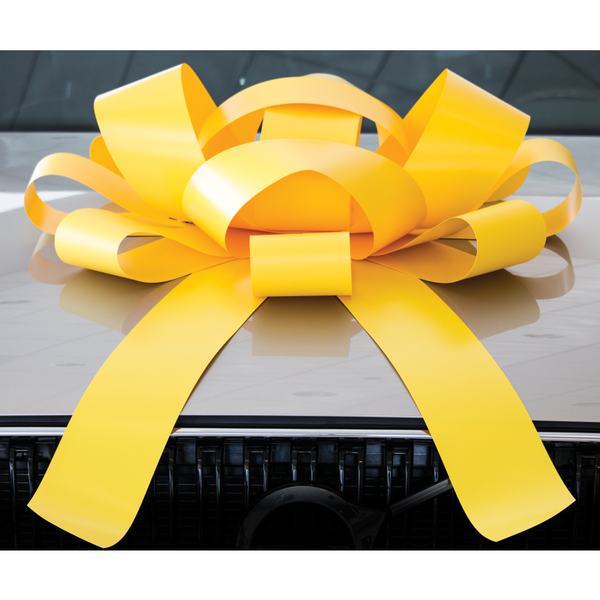 JUM-BOW Magnetic Car Bow - Yellow