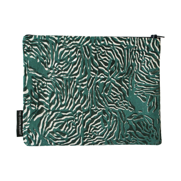 Luxury Limited Edition Pouch – Screen Printed Flat Pouch in Cotton - Handmade in the UK