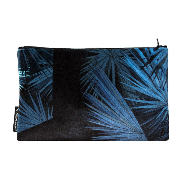 Luxury Designer Pouch - Printed Flat Pouch in Velvet - Made in the UK