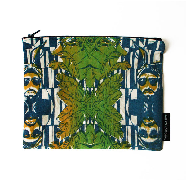 Designer Limited Edition Pouch – Screen Printed Flat Pouch in Cotton - Made in the UK