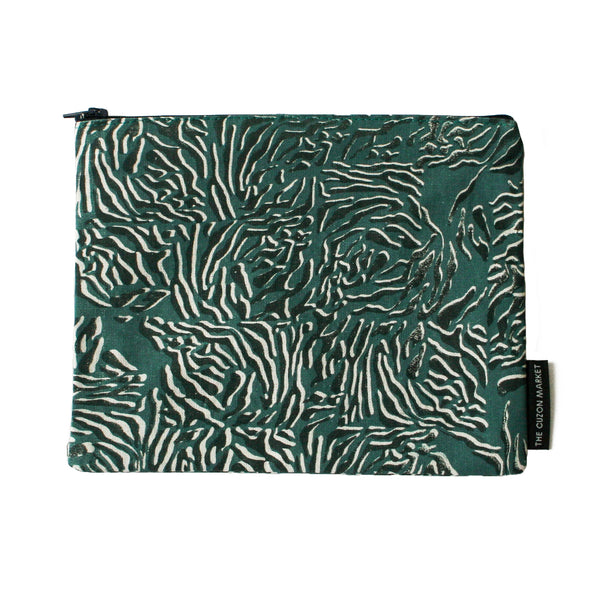 Luxury Limited Edition Pouch – Screen Printed Flat Pouch in Cotton - Made in the UK